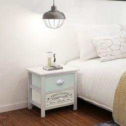 Vidaxl szafka nocna w stylu francuskiego shabby chic, drewniana (8718475971283)