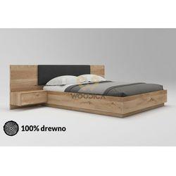 Woodica Łóżko dębowe morus 01 podnoszone 160x200