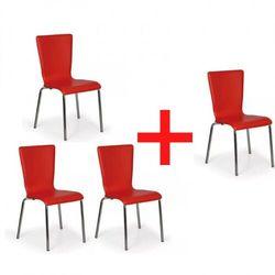 Fotel do jadalni caprio, czerwony, 3+1 gratis marki B2b partner