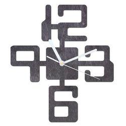 Drewniany zegar na ścianę Duże cyfry z białymi wskazówkami (5907509933141)