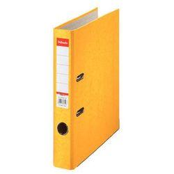 Esselte segregator a4 rainbow z mechanizmem dźwigniowym 50mm, żółty