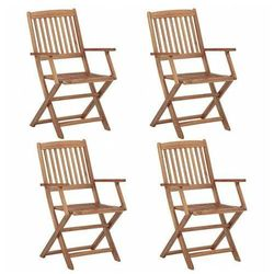 Komplet krzeseł ogrodowych Tony 4 szt., vidaxl_46338