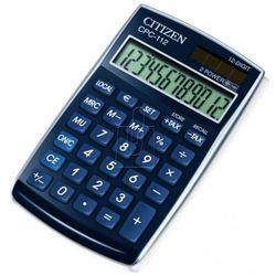 Kalkulator biurowy CITIZEN CPC-112 BLWB, 12-cyfrowy, 120x72mm, niebeiski, CI-CPC112BLWB