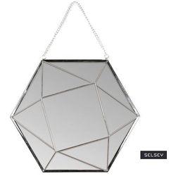 lustro wiszące nidial 27x23,5 cm srebrne marki Selsey