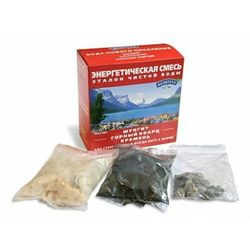 Energetyczna mieszanka - szungit, czarny krzemień, kwarc górski - 380 gram, 4626018162651