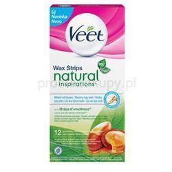 Veet Wax Strips Natural Inspirations™ plastry do depilacji woskiem z olejkiem arganowym + do każdego za