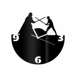 Zegar z pleksi na ścianę Rycerze z białymi wskazówkami (5907509936104)