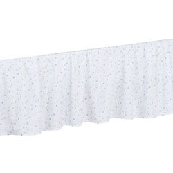 falbanka do łóżeczka mini gwiazdki szare na bieli marki Mamo-tato