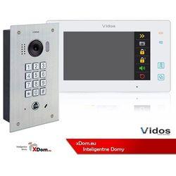 Zestaw wideodomofonu cyfrowego z szyfratorem Vidos DUO S1411D_M1021W