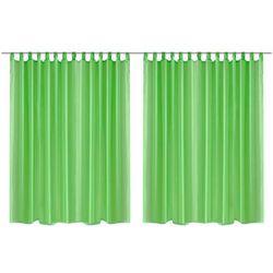 Vidaxl prosta zasłona 290 x 175 cm x2 zielona