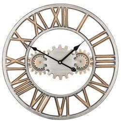 Zegar ścienny srebrny/złoty SEON