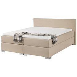Beliani Łóżko kontynentalne 160x200 cm - łóżko tapicerowane - president beżowe