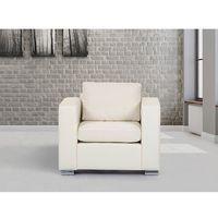 Beliani Skórzany fotel beżowy - sofa - helsinki (7081451738721)