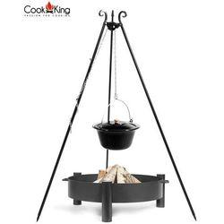Cook king Kociołek emaliowany na trójnogu 14l + palenisko haiti 70cm