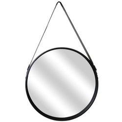 Lustro okrągłe Runa 50cm czarne (5902385740142)