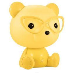 Polux - % Nocna lampka stojąca miś okularnik 308269 polux biurkowa lampa stołowa led 2,5w do pokoju dziecięcego żółta (5901508308269)