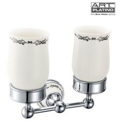 Uchwyt ART PLATINO NIK-57052 z dwoma szklankami