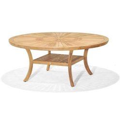Stół okrągły z drewna tekowego komodo 180, marki D2.design