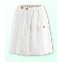 Sauna kilt ręcznik biały 100% bawełna męski 50*140 na guziki, 7042-129F6