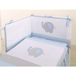 MAMO-TATO pościel 2-el Słonik błękitny do łóżeczka 60x120cm, kup u jednego z partnerów