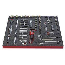 Zestaw narzędzi COMBINE, klucz nasadowy, zestaw wkrętaków combi, 72-częściowy, w