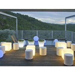 NEW GARDEN lampa ogrodowa CUBY 32 SOLAR biała - LED, sterowanie pilotem (5900000047621)