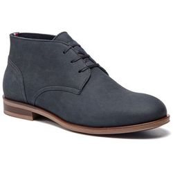 7aad7f72 Tommy hilfiger Trzewiki - dress casual nubuck boot fm0fm02115 midnight 403