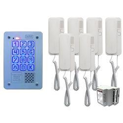 Zestaw 6-rodzinny Radbit Cyfrowy panel domofonowy KEC-4 PT MINI GD36