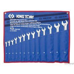 ZESTAW KLUCZY PŁASKO-OCZKOWYCH WYDŁUŻONYCH 13cz. 8 - 24mm King Tony 12A3MRN, 12A3MRN