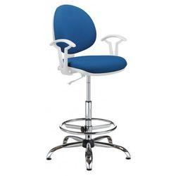 Krzesło specjalistyczne smart white gtp27 steel04 + ring base chrome - obrotowe marki Nowy styl