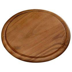 Kesper Okrągła deska do krojenia z drewna akacjowego, drewniana deska do krojenia, deska okrągła, deska do serwowania, akcesoria kuchenne, (4000270204449)