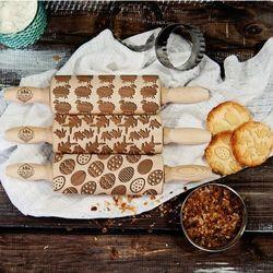 Mygiftdna Wielkanoc - zestaw 3 mini wałki do ciasta - wielkanoc - zestaw