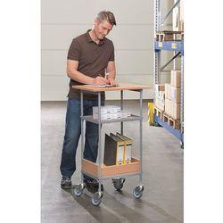 Wózek stołowy, nośność 100 kg, pow. robocza 600x450 mm. szkielet lakierowany pro marki Unbekannt
