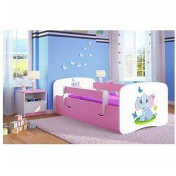 Łóżko dla dziewczynki z szufladą happy 2x mix 80x160 - różowe marki Producent: elior