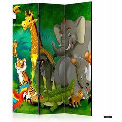 Selsey parawan 3-częściowy - kolorowe safari (5903025214610)