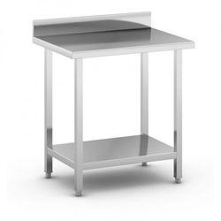 B2b partner Stół roboczy ze stali nierdzewnej z półką, 800 x 600 x 850 mm
