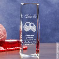 »Dwa Serca 3D« dla Twojej ukochanej ♥ Grawer Twojej dedykacji GRATIS!