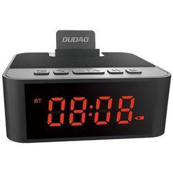 bezprzewodowy głośnik z aux zegarek, radio fm i budzik + czytnik kart micro sd czarny (y5 black) - czarn