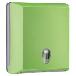 Pojemnik na ręczniki papierowe składane M Marplast plastik zielony - produkt z kategorii- Pozostałe akcesoria łazienkowe