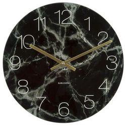 Karlsson:: Zegar ścienny Glass Marble czarny