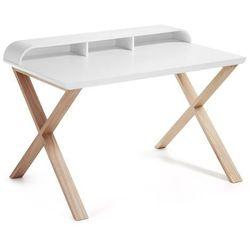 :: biurko success białe - nogi naturalne od producenta Laforma