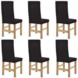 vidaXL Elastyczne pokrowce na krzesła, 6 szt, brązowe (8718475956761)
