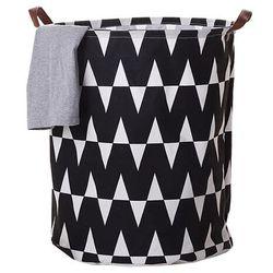 4-home Kosz na pranie plejo 1, czarny