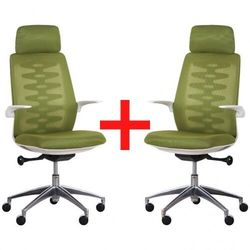 B2b partner Krzesło biurowe z oparciem siatkowym sitta white 1+1 gratis, zielony
