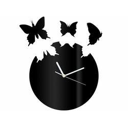 Zegar z pleksi na ścianę motyle z białymi wskazówkami marki Congee.pl