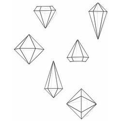Umbra - dekoracja ścienna prisma black 6 elementów