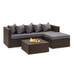 Blumfeldt theia lounge ogrodowy zestaw wypoczynkowy brązowy / ciemnoszary (4060656193842)