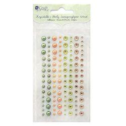 Kryształki i perły samoprzylepne  grkp-007/120szt. - zielono-pomarańczowe od producenta Dalprint