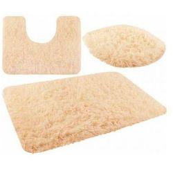 Iso trade Zestaw dywaników łazienkowych jasny brąz