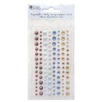 Kryształki i perły samoprzylepne  grkp-001/120szt. - 3 kolory marki Dalprint